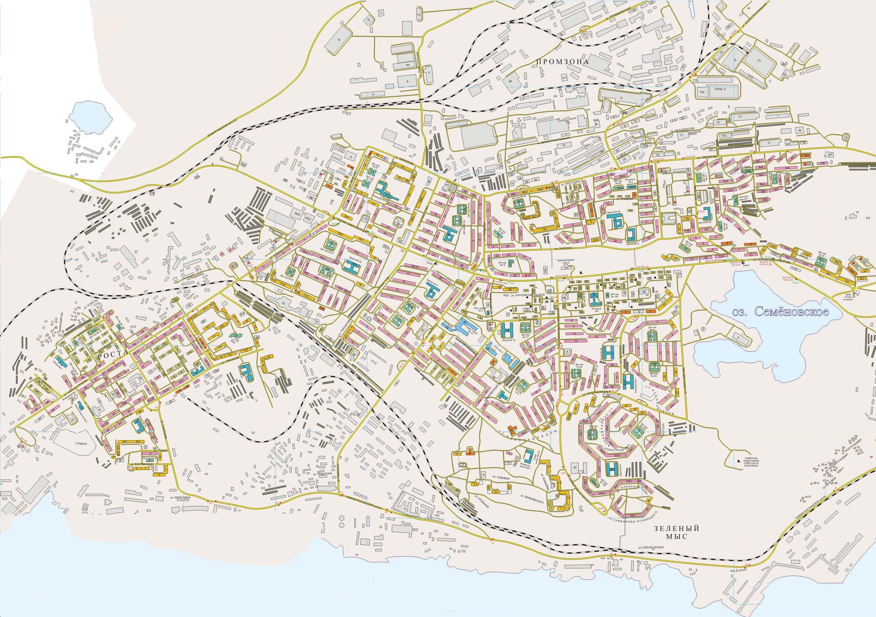 Скачать карта мурманска с улицами и домами